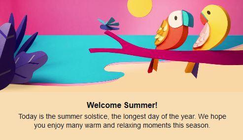 Summer first day